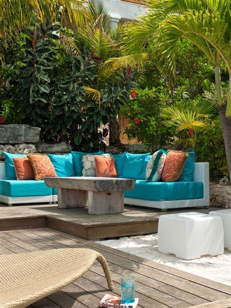 blue patio designs banquette design