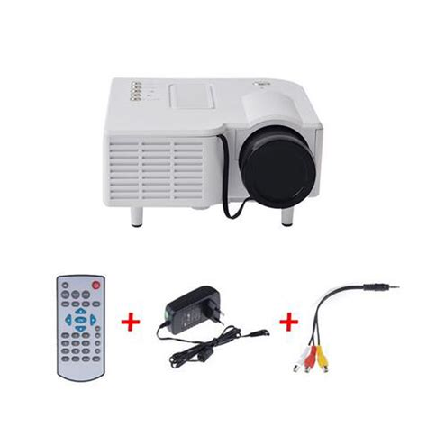 Proyektor Uc28 new uc28 portable led projector cinema theater pc laptop vga usb sd av hdmi projector up to 20k