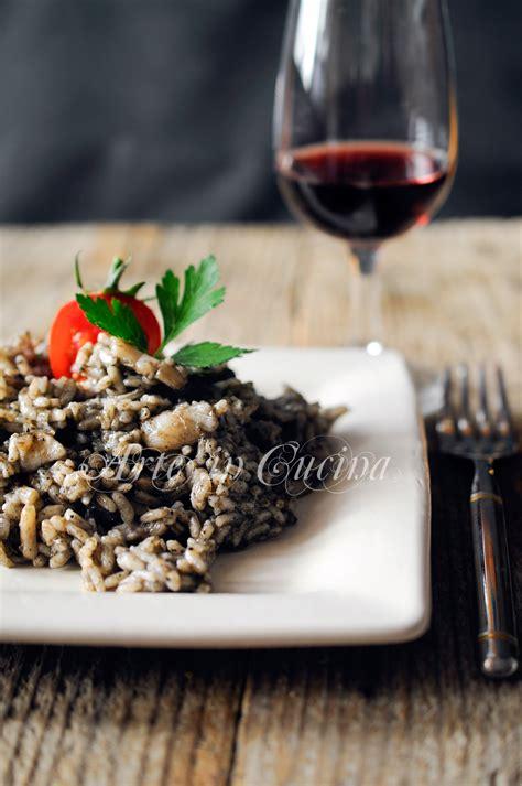 cucinare riso nero risotto al nero di seppia ricetta facile arte in cucina