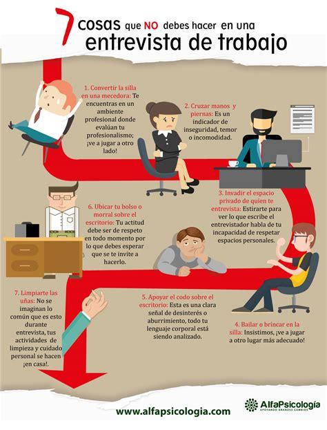 preguntas de una entrevista vocacional 7 cosas que no debes hacer en una entrevista de trabajo