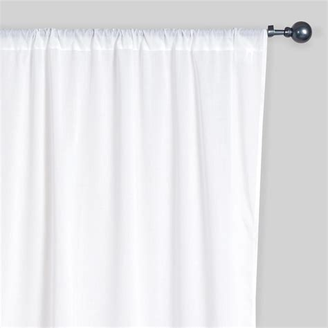 White Voile Curtains White Cotton Voile Curtains Set Of 2 World Market
