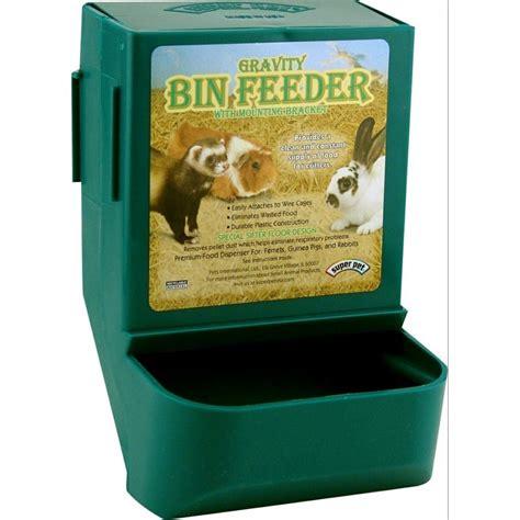 gravity bin rabbit feeder with bracket rabbit products