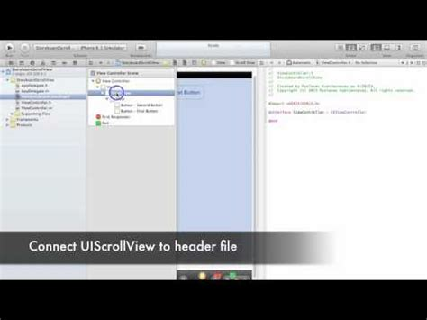 xcode uiscrollview tutorial storyboard xcode 4 6 uiscrollview with storyboards how to add