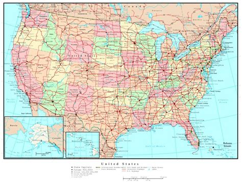 usa map political states united states political map