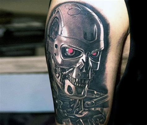 terminator tattoo 60 terminator designs for manly mechanical