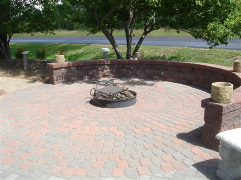 seat height wall surrounds fire pit patio town flickr