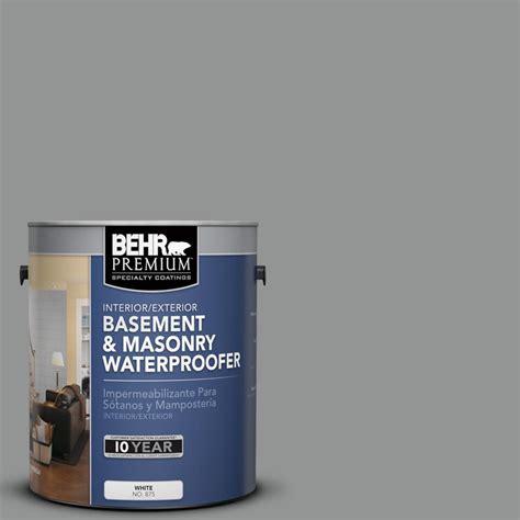Behr Premium 1 Gal Basement And Masonry Waterproofer Behr Basement And Masonry Waterproofing Paint