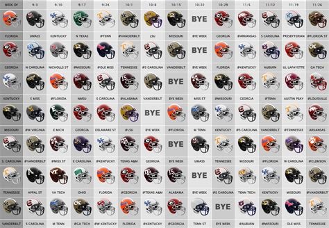 printable helmet schedule 2016 sec football helmet schedule bing
