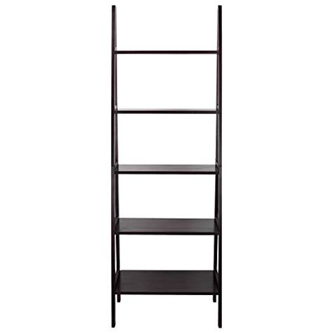casual home 5 shelf ladder bookcase espresso desertcart