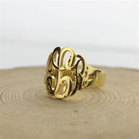 get cheap gold monogram ring aliexpress