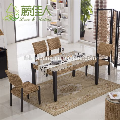 Indoor Sunroom Natural Rattan Seagrass Wicker Conservatory Seagrass Living Room Furniture