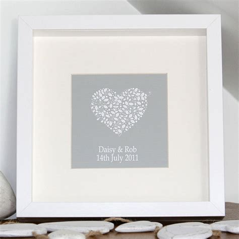 Wedding Prints by Personalised Wedding Anniversary Canvas Print By Hopsack