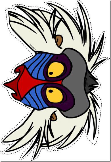 printable zazu mask maquillaje de rafiki de rey le 243 n