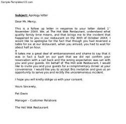 Apology Letter To Customer by Professional Apology Letter To Customer Sle Templates