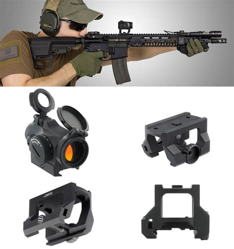 Micro Aimpoint T1 Low Black aimpoint micro t 2 low drag mount popular airsoft