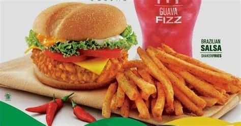 Mcd Spicy Peri Peri daftar menu dan harga mcspicy samba dari mcdonalds