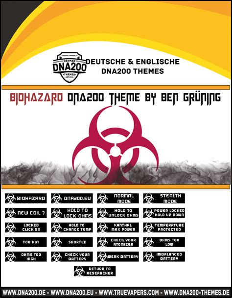 themes dna 250 biohazard dna200 theme themes and custom screens evolv