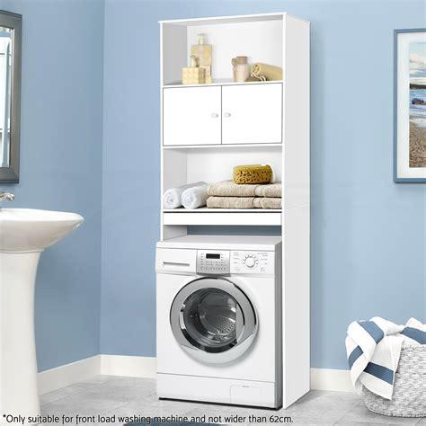 Bathroom Storage Cabinet Organizer Laundry Cupboard Toilet Space Saver Laundry