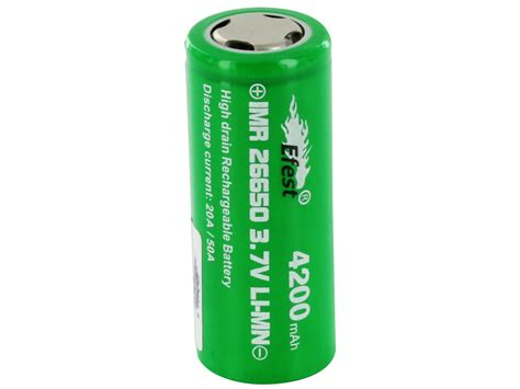 Diskon Efest Imr 26650 Battery 4200mah 3 7v 50a With Flat Top efest 4333 imr 26650 4200mah 3 7v high drain flat top battery