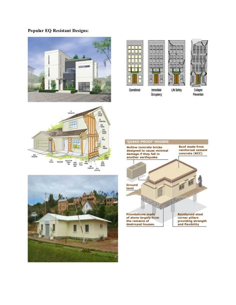 Earthquake Resistant Designs Earthquake Proof House Plans