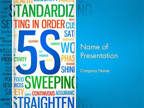5s Word Cloud Presentation Template For Powerpoint And Keynote Ppt Star 5s Powerpoint Template