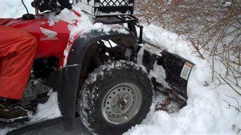 honda rancher snow plow honda rancher 350 4x4 plow