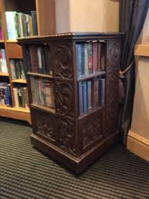cherry antique four sided bookcase for sale in leeds