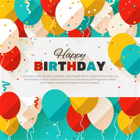 happy birthday flat design birthday confetti free vector download 1 105 free vector