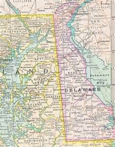 maryland delaware map maryland and delaware usa 1897 century atlas aquatint state map petitpoulailler antiques on