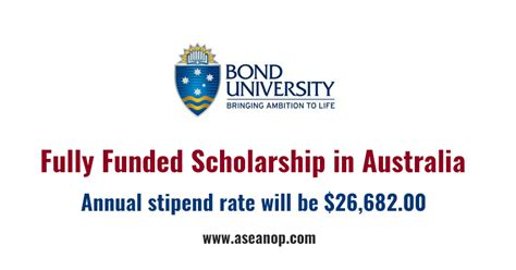 Fully Funded Mba Scholarships In Australia by Fully Funded Graduate Scholarship At Bond