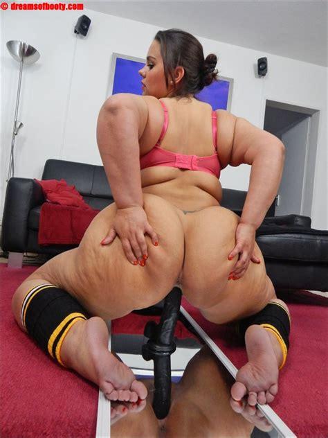 German Bbw Samantha Rides A Big Black Dildo By Webdob