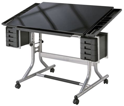 Alvin Craftmaster Ii Black Glasstop Art Craft Table Black Drafting Table