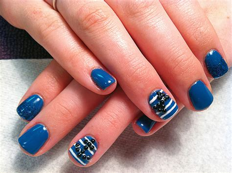 Nautical Themed Wedding - hard gel chic nail styles