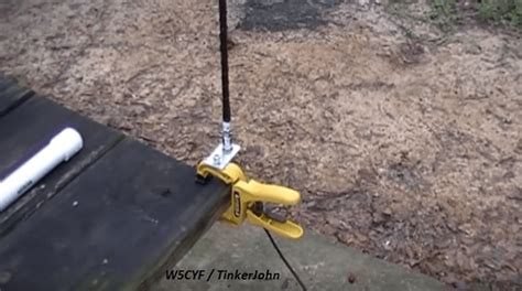 how to make a homebrew ham radio antenna mount with simple modifications and parts