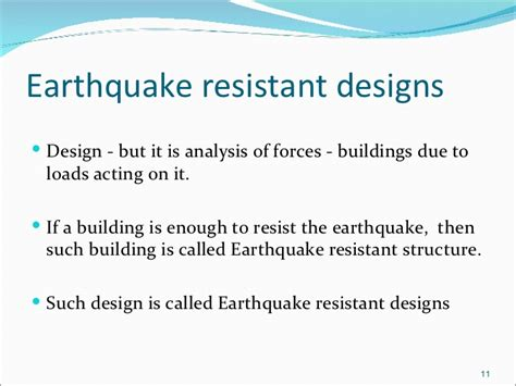 earthquake resistant structures earthquake resistant designs