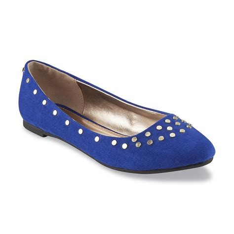 bongo shoes bongo s kirsten blue embellished ballet flat shoes