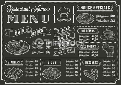 menu design lettering vector art chalkboard restaurant menu template mexican