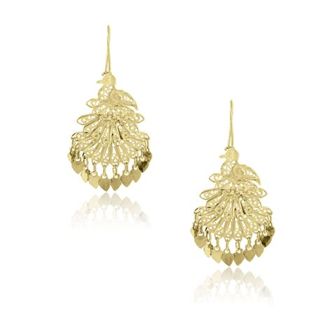 Yellow Gold Chandelier Earrings Yellow Gold Bird Chandelier Earrings Raymond Jewelers