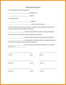 Simple Lease Agreement Template Free 4 Simple Rental Agreement Template Printable Timesheets