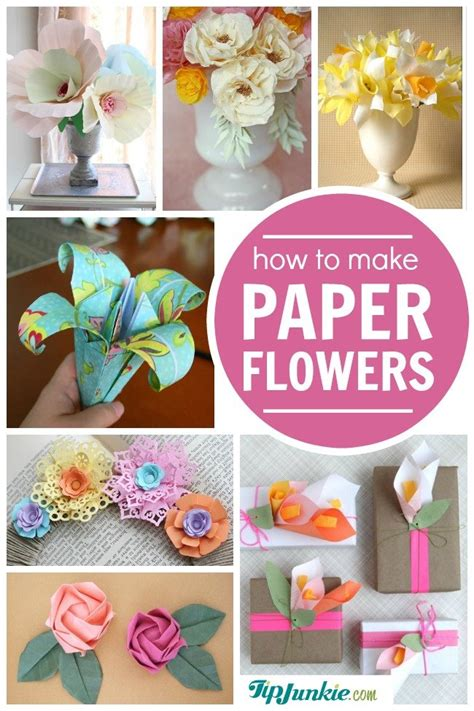 How To Make Different Paper Flowers - 38 how to make paper flower tutorials so pretty tip