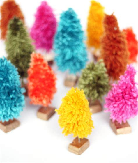 creative ideas diy mini tree diy how to make mini yarn trees