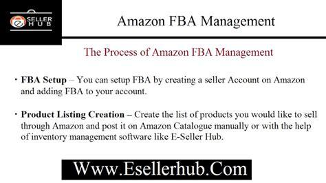amazon fba amazon fba management youtube