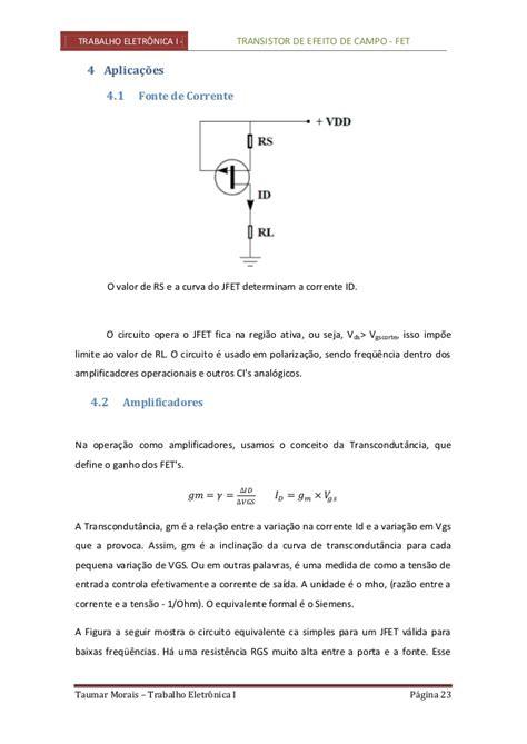 transistor fet exercicios resolvidos transistor fet