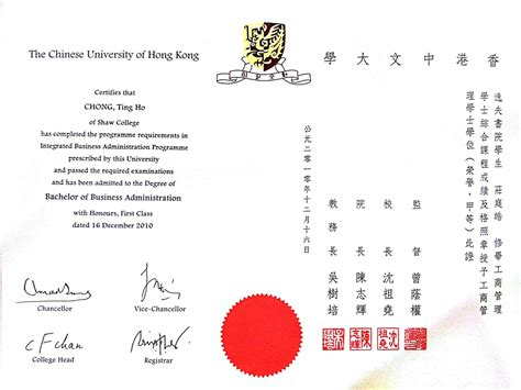 Of Hong Kong Mba Class Profile by Academic Ivan Chong