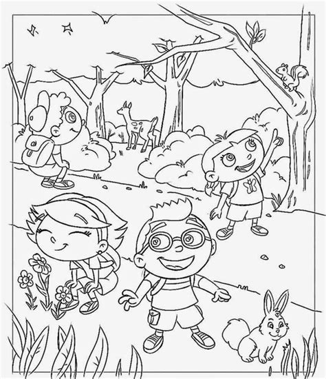 free printable coloring pages einsteins einsteins at forest coloring pages coloringsuite