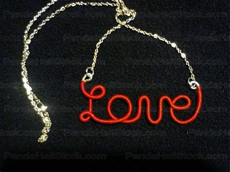 how to make wire name jewelry how to make a name necklace out of wire and chain nbeads
