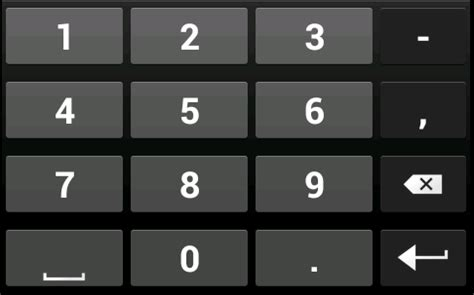 javascript keyboard layout android number soft keyboard showing comma not appearing