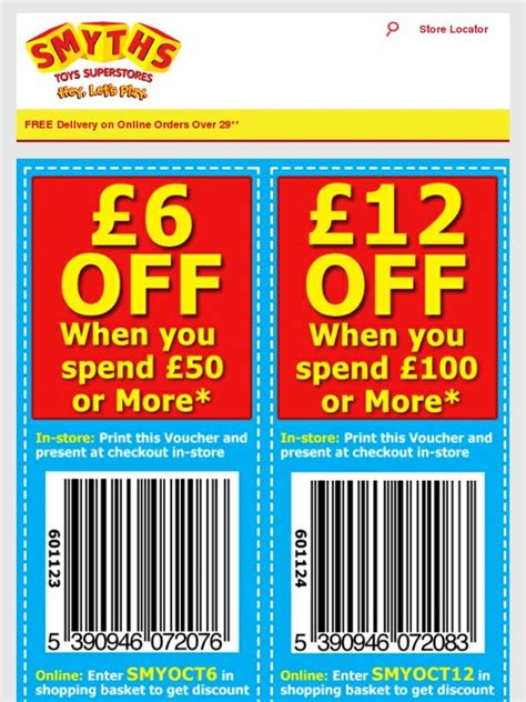 Smyths Gift Card Online - smyths toys hq hurry free 163 12 money off voucher ends monday milled