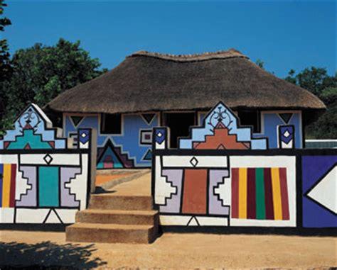 tradisionele xhosa hutte hutte ndebele