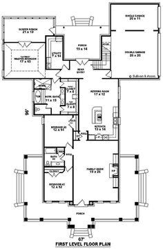 Single Story Open Floor Plans | - One story 3 bedroom, 2 bath french traditional style house
